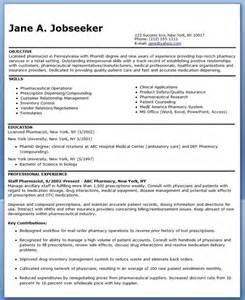 Clinical Pharmacist Resume Sample