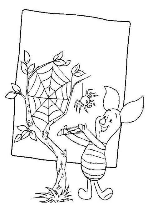 Kleurplaat De Spin Die Het Te Druk Had kleurplaten en zo 187 kleurplaten winnie de pooh en