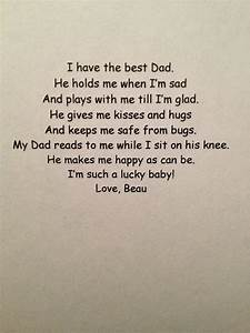 A father's day poem from a baby. I just got poetic all of ...