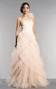 blush wedding dresses with classic details modwedding With blush colored wedding dress