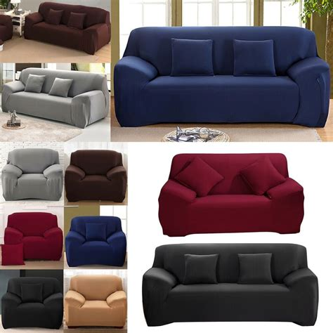 Sofa Covers 3 Seater by 1 2 3 Seater Easy Sofa Soft Slipcover Stretch Covers