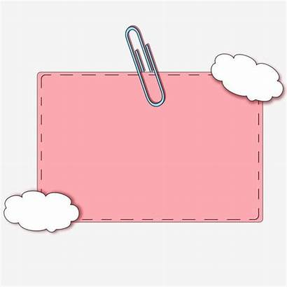 Paper Cartoon Background Clipart Note Powerpoint Frame