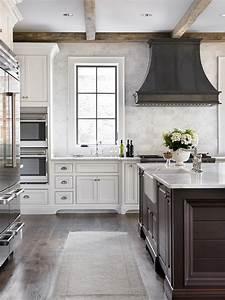 Zinc Kitchen Hood - Transitional - kitchen - L Kae Interiors