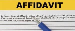affidavit  applying dbc gas connection