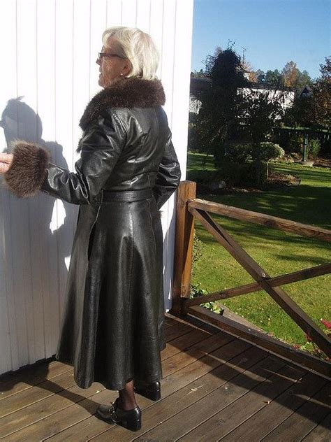 leather coat  leather lover sexy grannys pinterest coats   leather coats