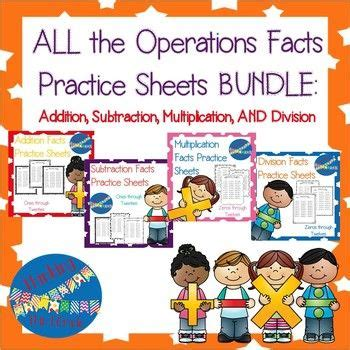 addition subtraction multiplication division practice