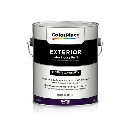 Color Place Exterior Satin Paint, White Walmartcom