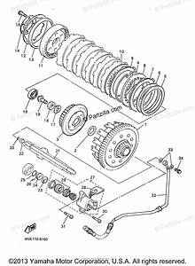 Yamaha Motorcycle 1997 Oem Parts Diagram For Clutch