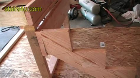 Basement Framing Diy by Stringer And Stair Ledger Attachment Construction Video