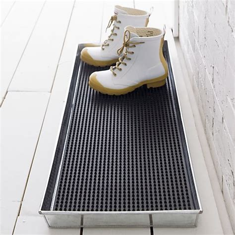 livingroom rugs galvanized metal boot tray with rubber boot tray insert in