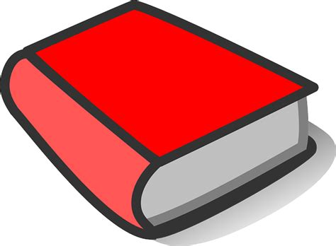 Book Red Thick · Free Vector Graphic On Pixabay