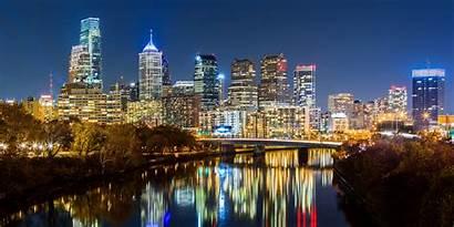 Philadelphia Night Panorama Cityscape Pennsylvania Skyline Philly