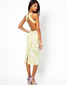 ASOS | ASOS Backless Midi Sequin Dress