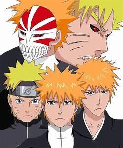 Naruto and Ichigo by Kinoichi on DeviantArt