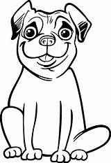 Pug Coloring Pages Cute Colouring Pugs Smile Printables Printable Print Animal Dog Face Sheet Palomino Silly Popular Trending Days Last sketch template