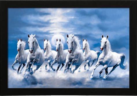 delight vastu  horse blue painting canvas painting