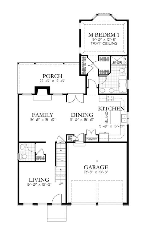 Traditional Style House Plan - 4 Beds 3.5 Baths 2365 Sq/Ft