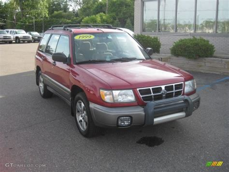 red subaru forester 2000 1999 canyon red pearl subaru forester s 50549701