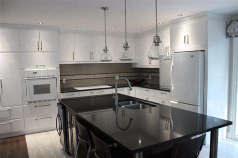 lustre cuisine armoires de cuisine en polymère blanc lustré cuisines despro
