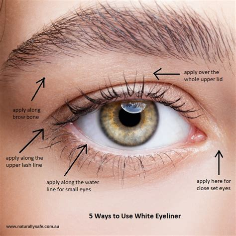 ways  brighten   eyes  white eyeliner naturally safe cosmetics