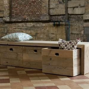 le banc de rangement un meuble fonctionnel qui With meuble d entree avec banc