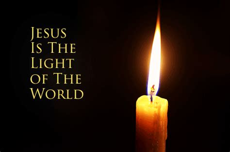 jesus is the light i am the light of the world neverthirsty