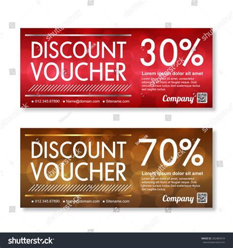 template promo code discount voucher template premium pattern stock vector