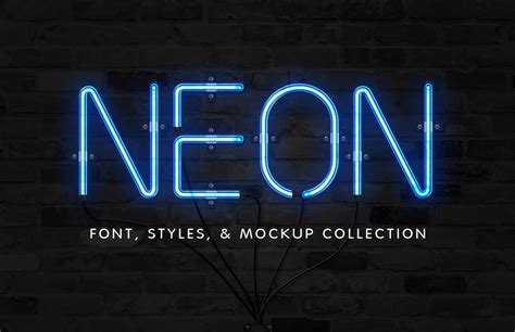 neon light letters font neon font effect collection medialoot