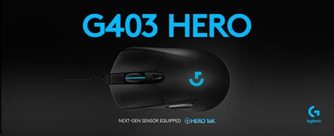 Logitech g403 is a gaming mouse designed to be able to provide a sense of comfort in your grip when used for a long time because it is equipped with grips made of rubber on the left and right sides. LOGITECH G403 HERO 16K DPI GAMING MO (end 9/17/2021 4:15 PM)