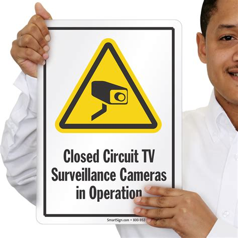 closed circuit tv surveillance cameras  operation signs