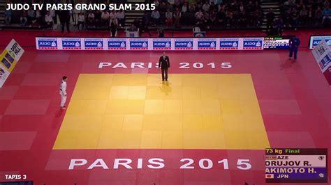 la surface de combat en competition de judo judo