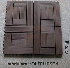 Wpc Platten Günstig : holzfliese wpc holz modulares klicksystem ~ Orissabook.com Haus und Dekorationen