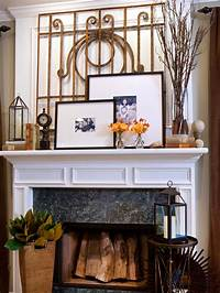 decorating fireplace mantels 20 Mantel and Bookshelf Decorating Tips | Living Room and ...