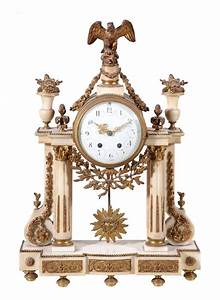 A, French, White, Marble, And, Gilt, Metal, Mounted, Mantel, Lot, 0338