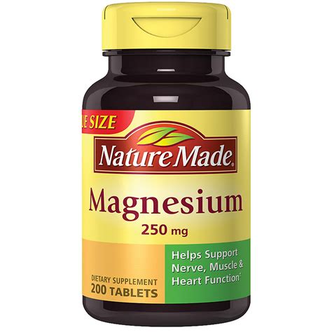 nature magnesium mg dietary supplement tablets walgreens