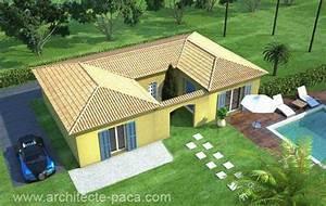 plan de maison plain pied ou plein pied construire pour With delightful plan maison en pente 2 exemples de plans de maisons en corse