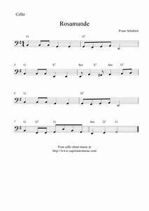 Rosamunde (Schubert), free cello sheet music notes