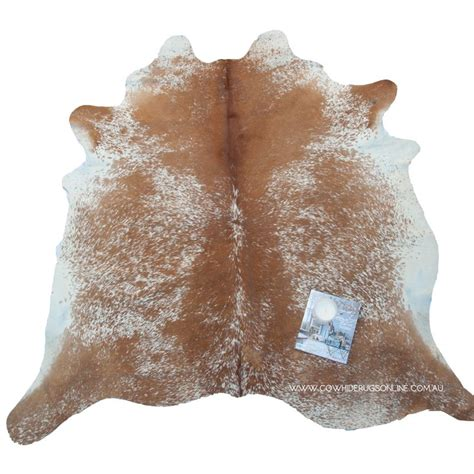 Cowhide Rugs Sydney - medium brown salt pepper cowhide rug our range