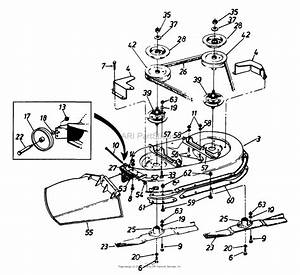 Mtd 1361614g401  1996  Parts Diagram For Deck Assembly