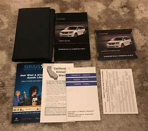 2011 Dodge Grand Caravan Owners Manual With Case Oem Free