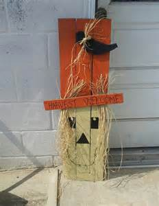 Pinterest Wood Pallet Fall Crafts Scarecrow