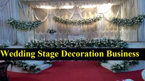 start  wedding stage decoration business