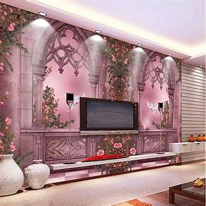 Aliexpress.com : Buy 2016 New Fashion 3D Landscape Wallpaper Rose Tree Window Wall Paper Home ...