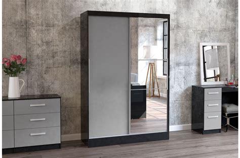 2 Door Bedroom Wardrobes by Lynx 2 Door Sliding Wardrobe With Mirror Crendon Beds