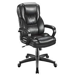 Fosner High Back Chair Assembly by Realspace R Fosner High Back Bonded Leather