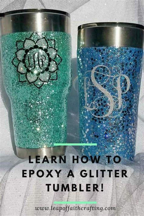 glitter tumbler diy tutorial youll love  start