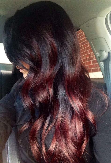 Black To Auburn Fall Ombre Hair My Wishful Thinking