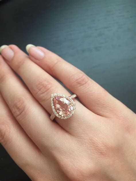 gold morganite engagement rings best 25 morganite ring ideas on gold morganite ring pink wedding rings and