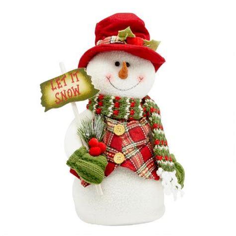 stuffed snowman decorations 16 plush heavy bottom snowman decor christmas tree shops andthat