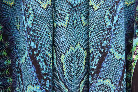 Roberto Cavalli Blue Snake Print Silk Maxi Caftan Gown